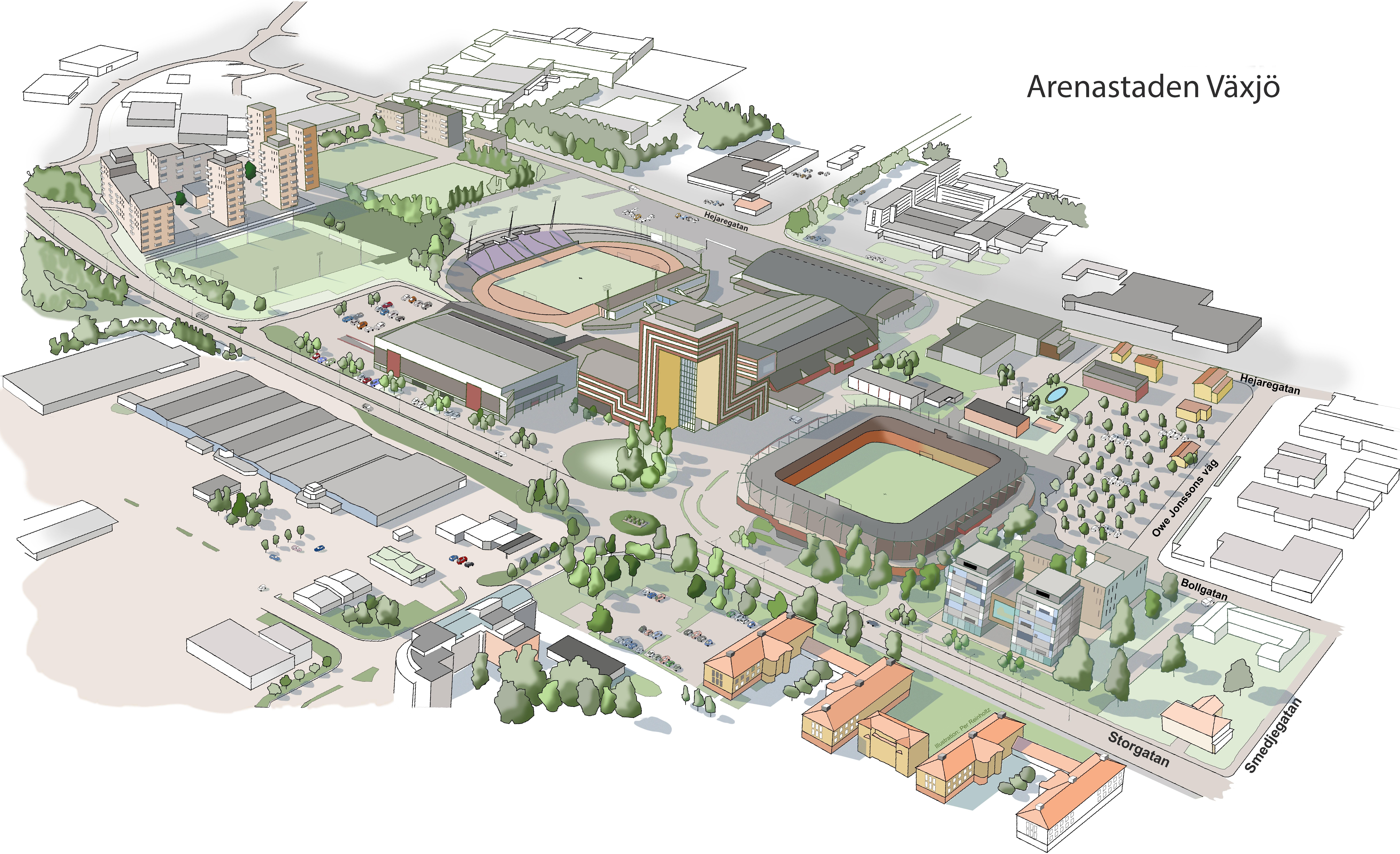arenastaden växjö karta Arenastaden Växjö   Vaxjo.se arenastaden växjö karta